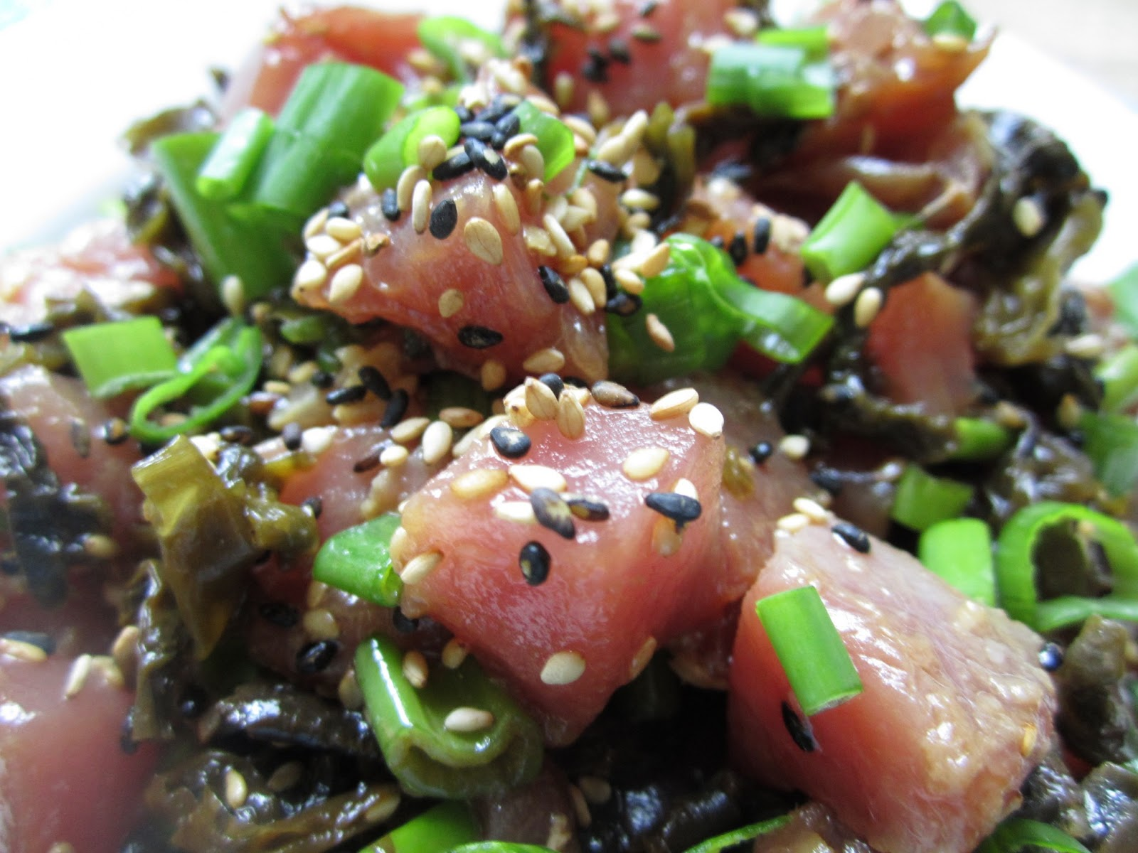 Anita's Healthy Recipes: Hawaiian Tuna Poke My Style