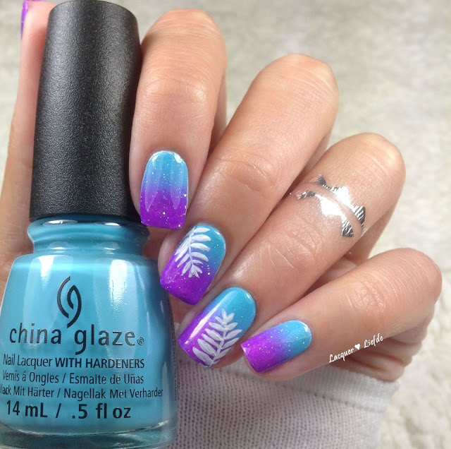 China Glaze Electric Nights Gradient Nagel Design