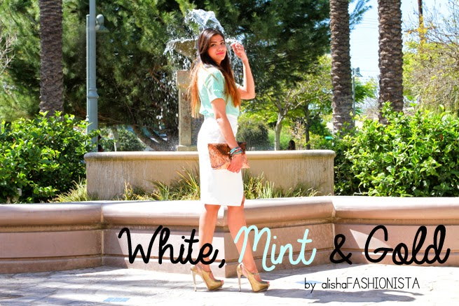 white zara skirt mint zara top brown rachel roy clutch alex and ani bracelets framework sunglasses colorful bracelets fashion blogger boutique 9 gold shoes
