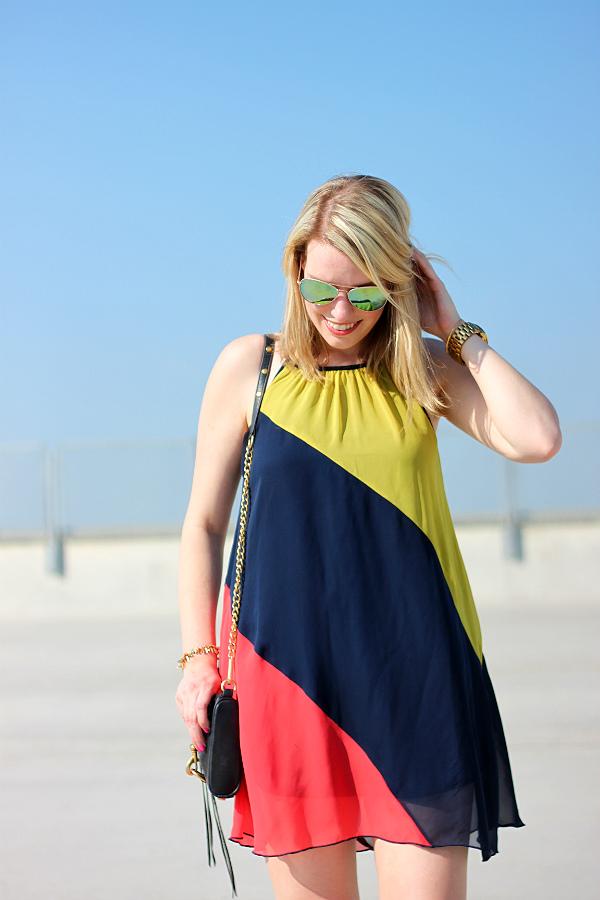 colorblock sundress