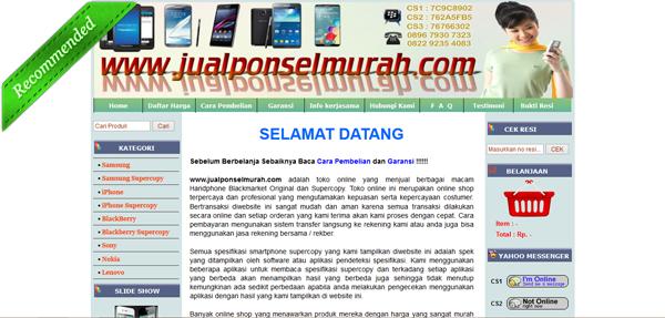 Jualponselmurah.com Toko Handphone Online Terpercaya