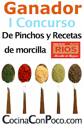 Premio CocinaConPoco.Com pinchos y recetas de morcilla Rios