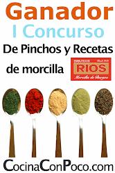 Premio CocinaConPoco.Com pinchos y recetas de morcilla Rios