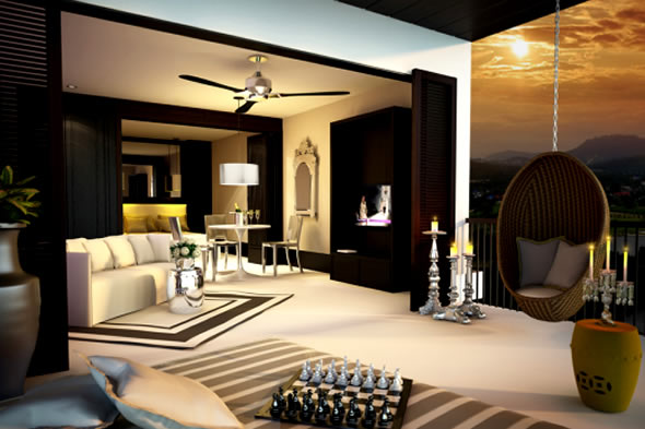 interior design luxury holiday homes interior design of yoophuket. Black Bedroom Furniture Sets. Home Design Ideas