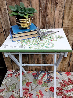 It's easy to stencil a table following the tutorial at diy beautify!