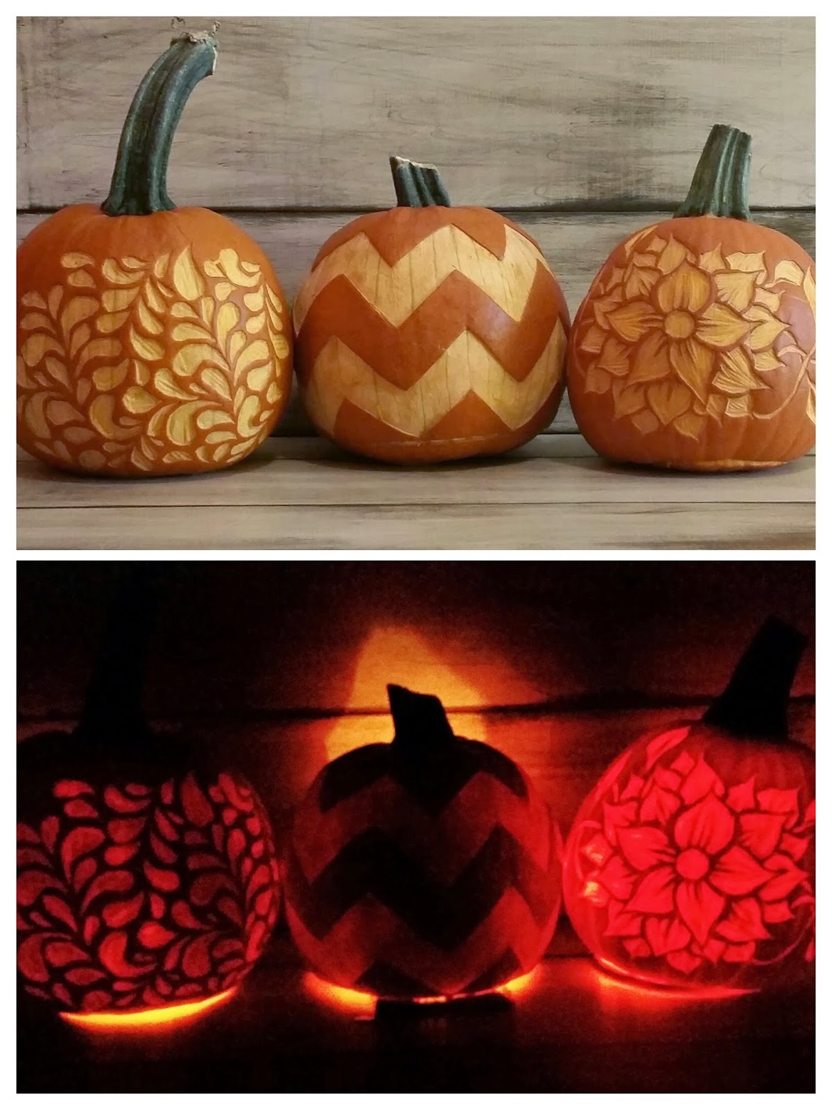 Diy vintage chic pumpkin carving