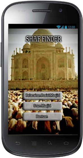 Aplikasi Shaf Finder: Halaman Menu Utama