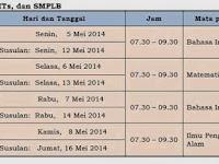 Jadwal UN Tahun Ajaran 2013/2014