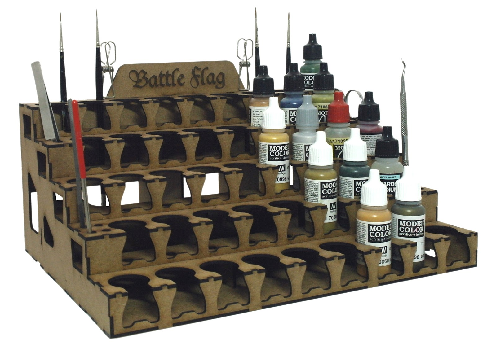 Model Paint Storage Rack Amp Tray System From Battle Flag