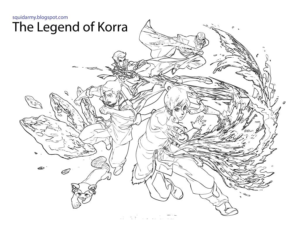 Avatar Legend of Korra Coloring pages - Squid Army