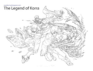 avatar legend of korra coloring pages all team