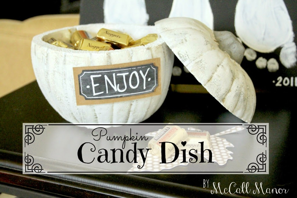 pumpkin candy dish diy