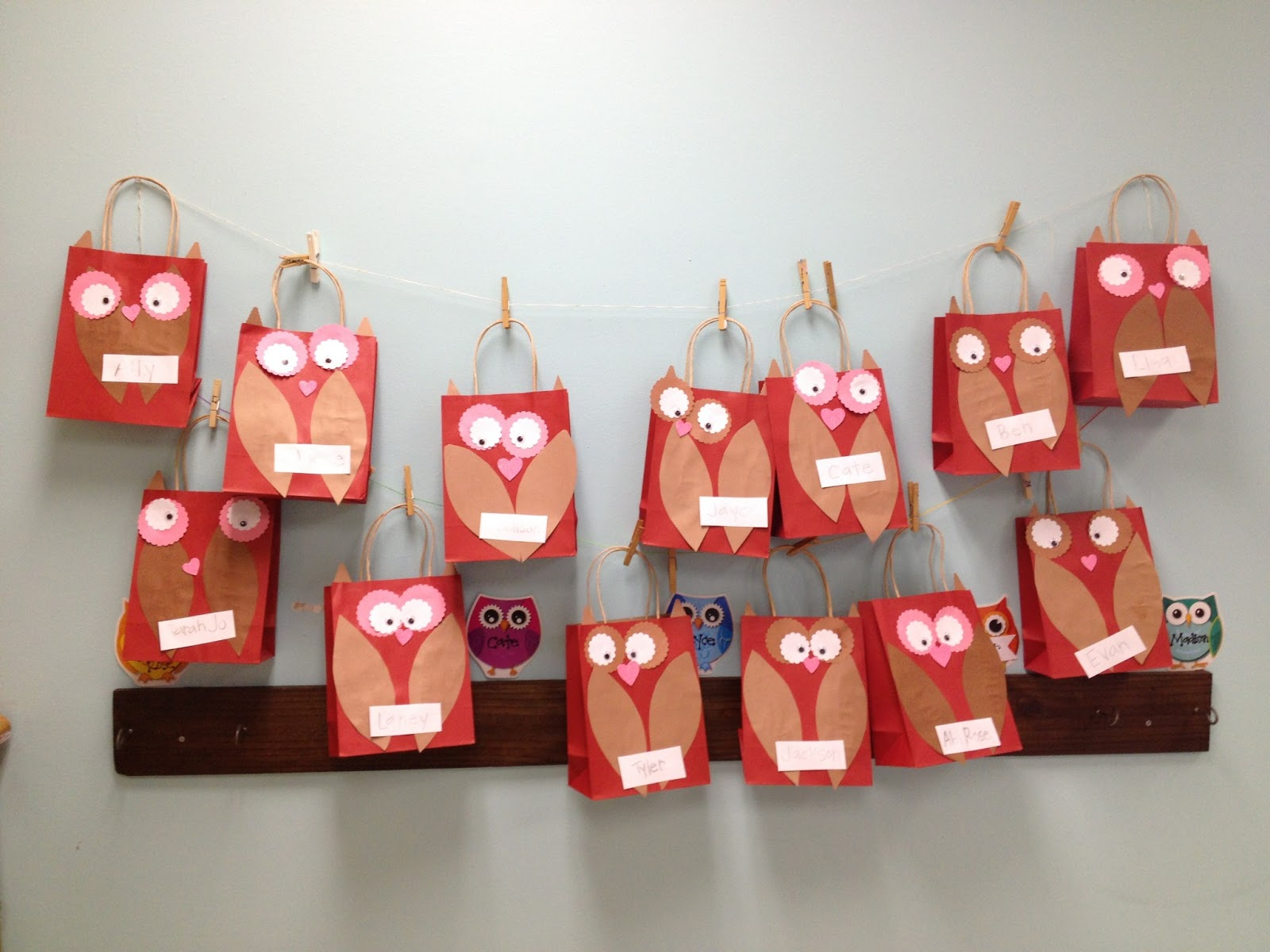 Valentine Bags For Kindergarten : Blackflipflops inexpensive owl valentine bags for