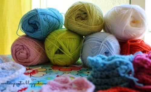 Granny squares - baby blanket