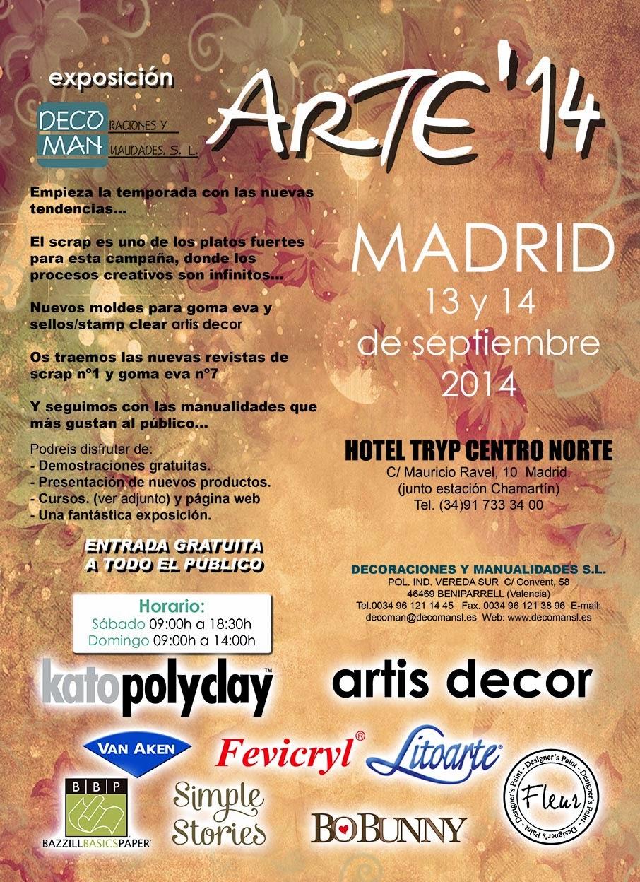 Blog Decoman Bellas Artes Y Manualidades Feria Arte 14 13 Y 14  ~ Cursos De Manualidades En Valencia