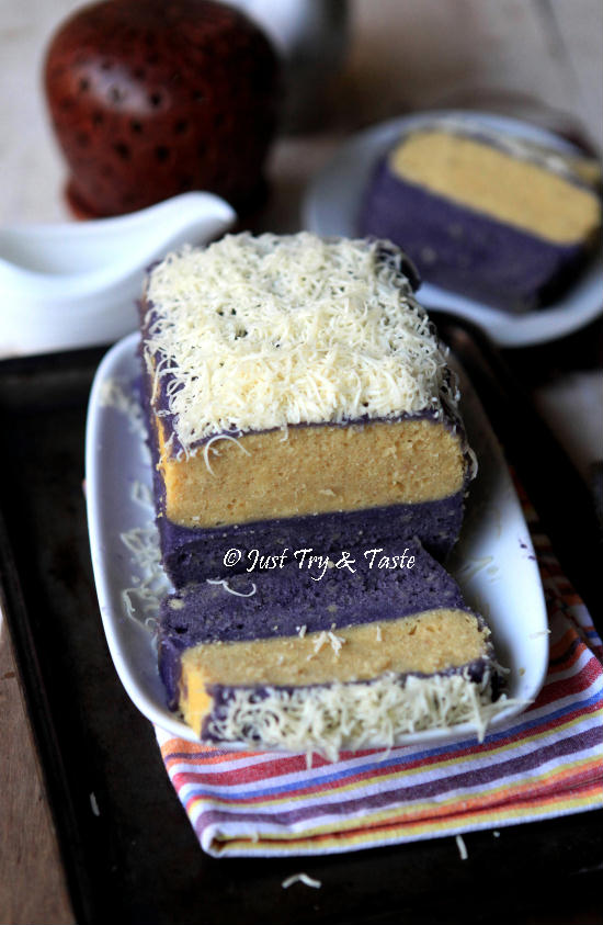 Resep Cake Lapis Talas Kukus dengan Vla Talas JTT