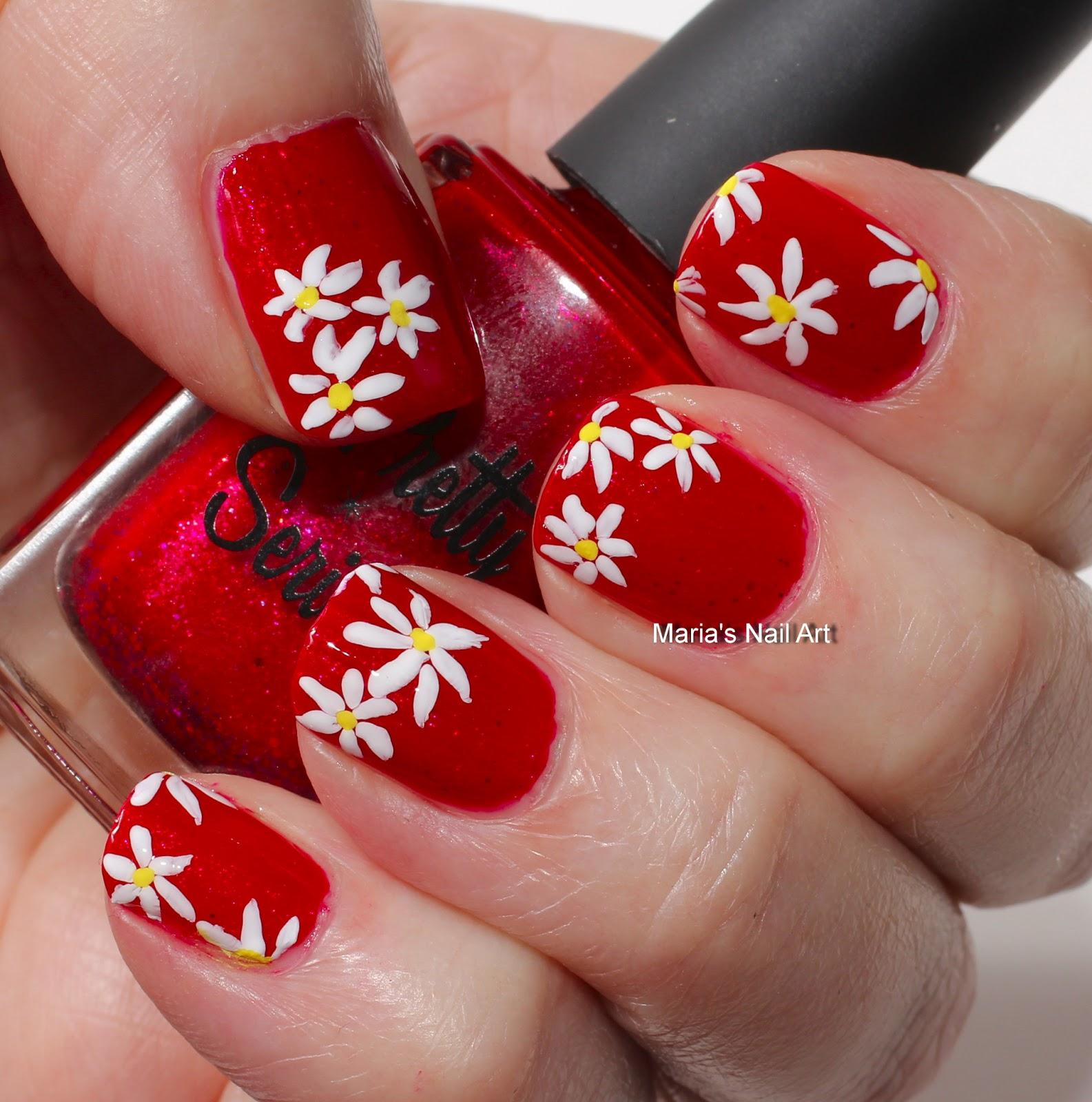 Vampire Nail Polish: Marias Nail Art And Polish Blog: Viscous Vampire Daisies
