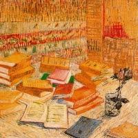 'Natura morta amb novel·les franceses i got amb rosa (Vincent Van Gogh)'