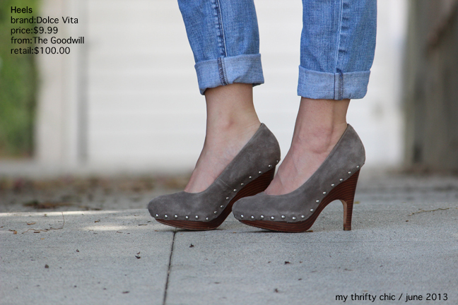 Dolce Vita Grey Suede Heels