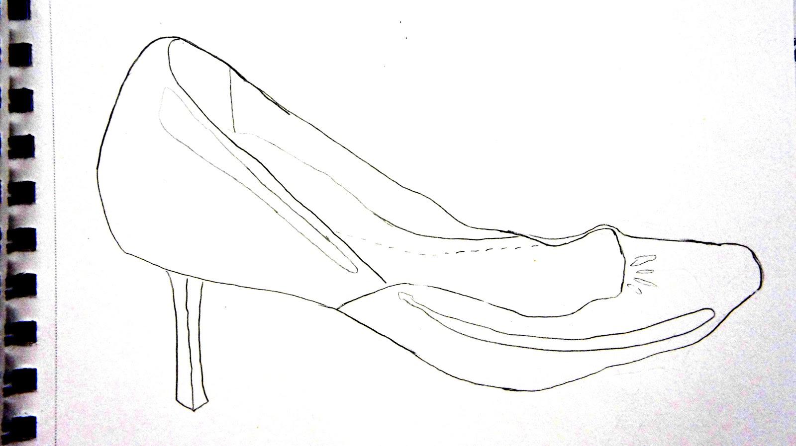 Contour Line Drawing Shoes : Art contour hand and shoe