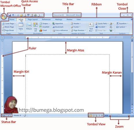 masing-masing unsur interface gambar diatas adalah sebagai berikut