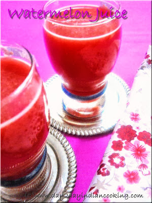 step by step instructions for preparing fresh watermelon juice