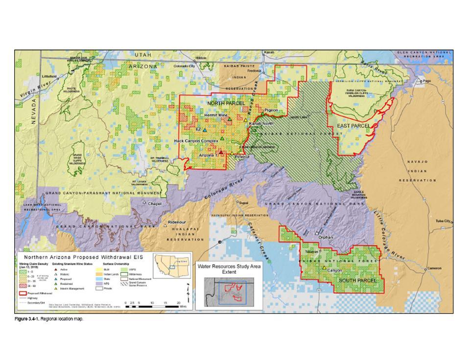 Arizona Geology Uranium Mining In Northern Arizona Few Get It Right - Map of northern arizona