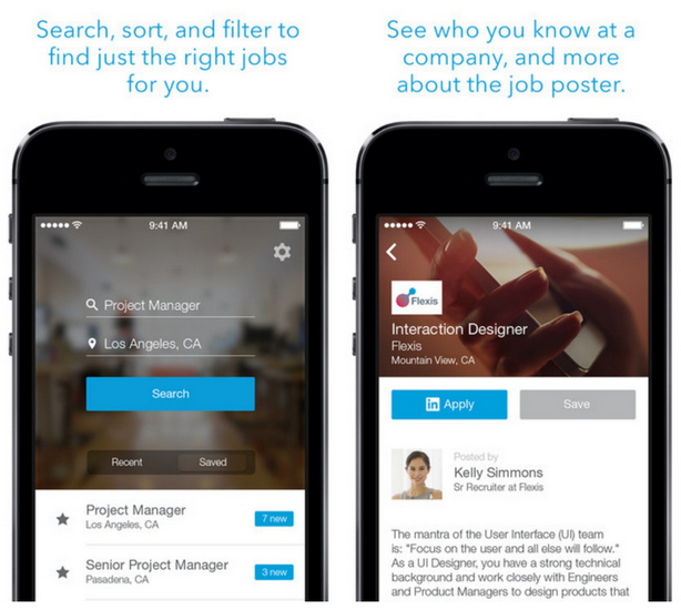 12 Aplikasi iPhone terbaik 2014, LinkedIn Job Search