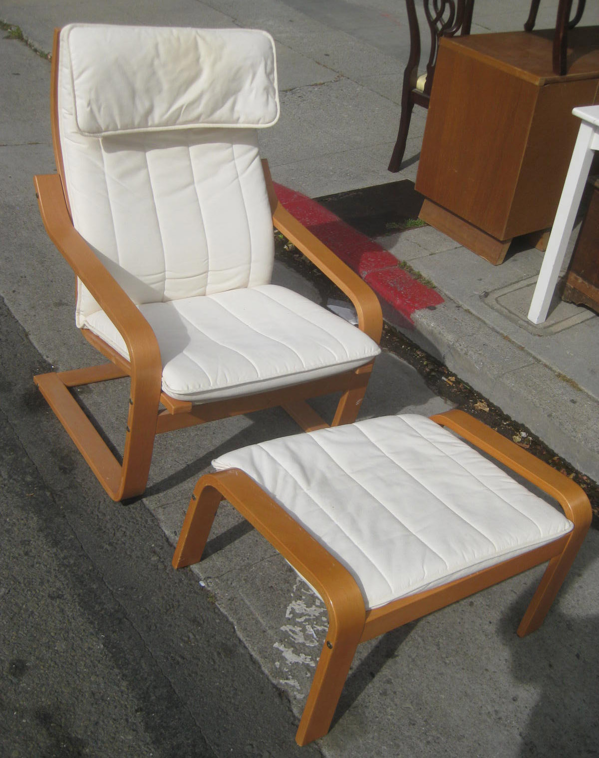 Superbe SOLD   Ikea Poang Chair And Ottoman   $50