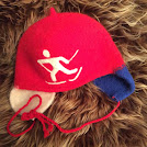 rød skiløper m/klaff - medium og large