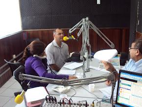 O Sgt. Ricardo, no Programa de Edvaldo Moraes da Rádio Folha, na luta pelos Guardas Patrimoniais