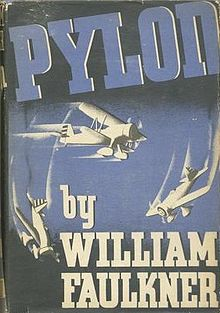 What inspired band name Pylon - Pylon_(William_Faulkner_novel_-_front_cover)