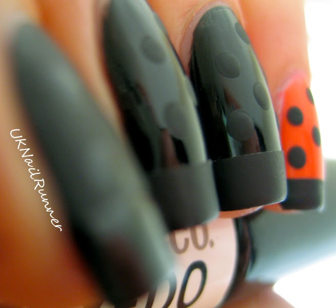 Nail Art with Laqa&Co Tuxedo and Bobby Dazzler