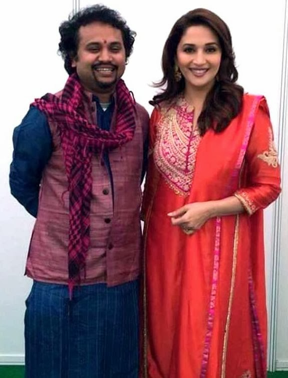 Director Soumik Sen and Madhuri Dixit