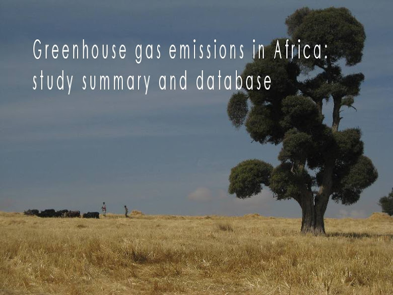 Greenhouse gas emissions in Africa: study summary and database