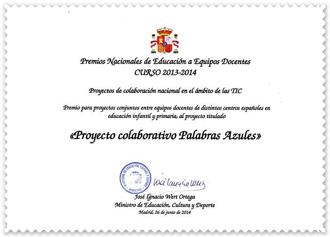 PREMIO NACIONAL  2013-2014