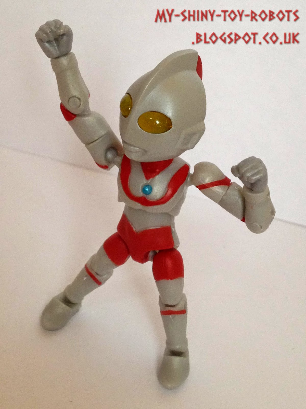 Ultraman takes a pose