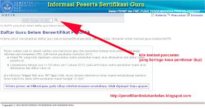 Situs Cek TUK 2013 dan Info Sertifikasi Guru Tahun 2013 search