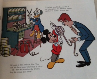 Mickey Mouse shows how animated films are made.