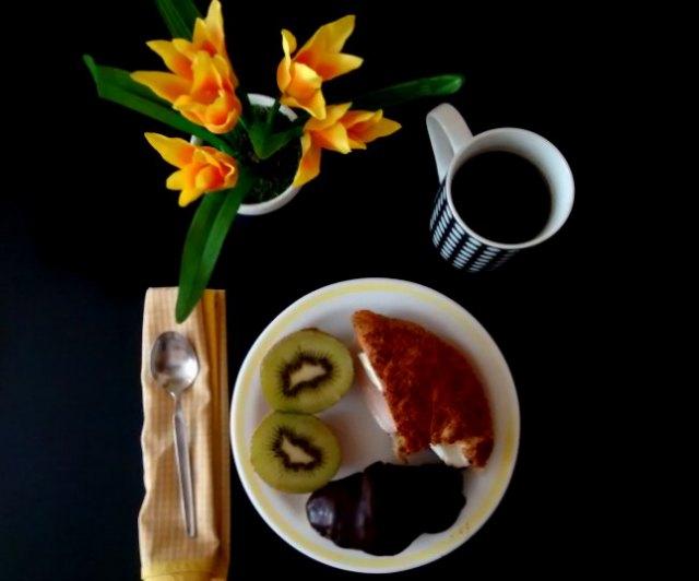 desayuno en amarillo