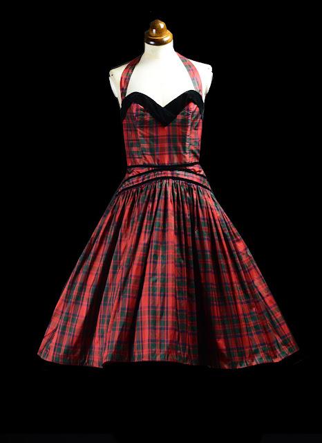 MacKintosh Silk Tartan 1950s dress by alexandra king