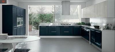 cocina color azul