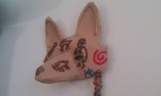 Coyote Beaded Mask