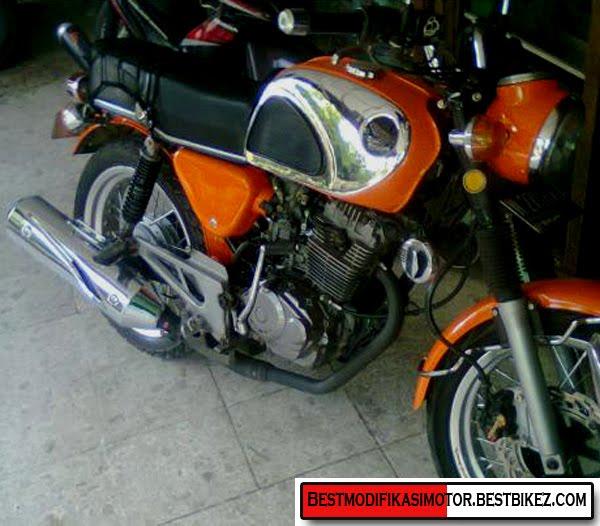 Modifikasi Honda CB Mesin Full Tiger 6 Speed - Gambar Modifikasi Motor ...