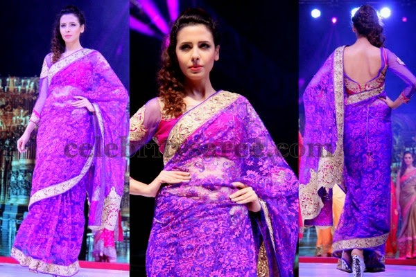 Violet Color Brasso Saree
