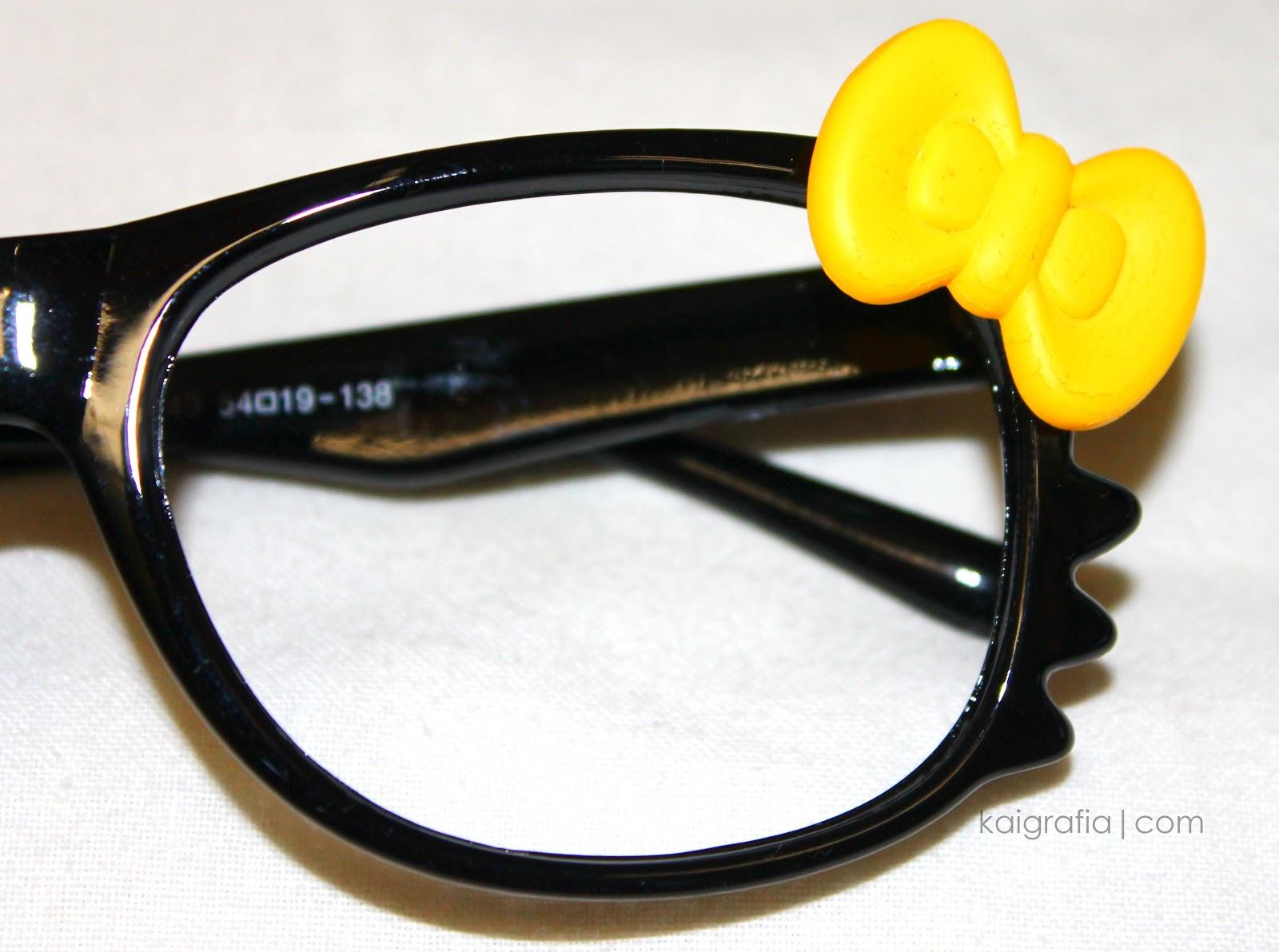 Black Hello Kitty Glasses
