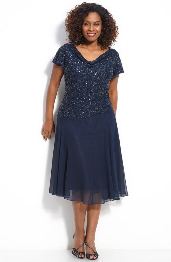 mother of the bride dresses plus size navy blue