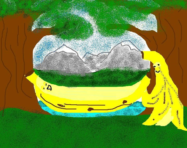drawing bananas talking is tough work  this painting took me about 45 minutes to finish  thank you mike  ms paint at work   art by request  banana hammock  no not that      rh   mspaintatwork blogspot