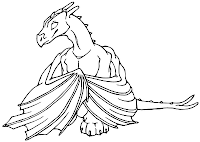Printable dragon kids coloring pages