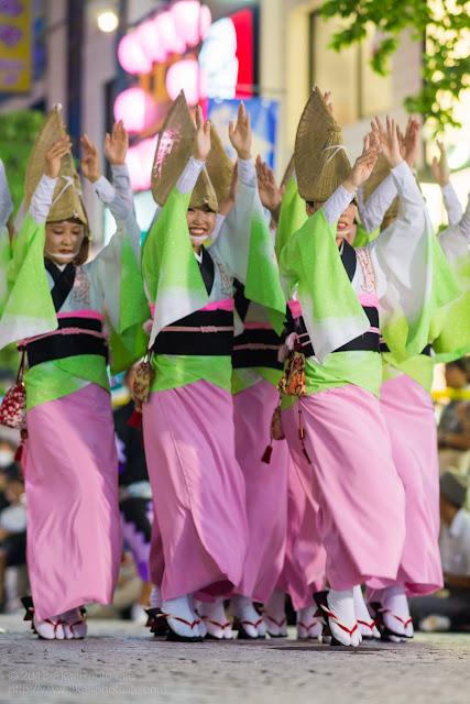 三鷹阿波踊り 神楽坂 かぐら連の女踊り